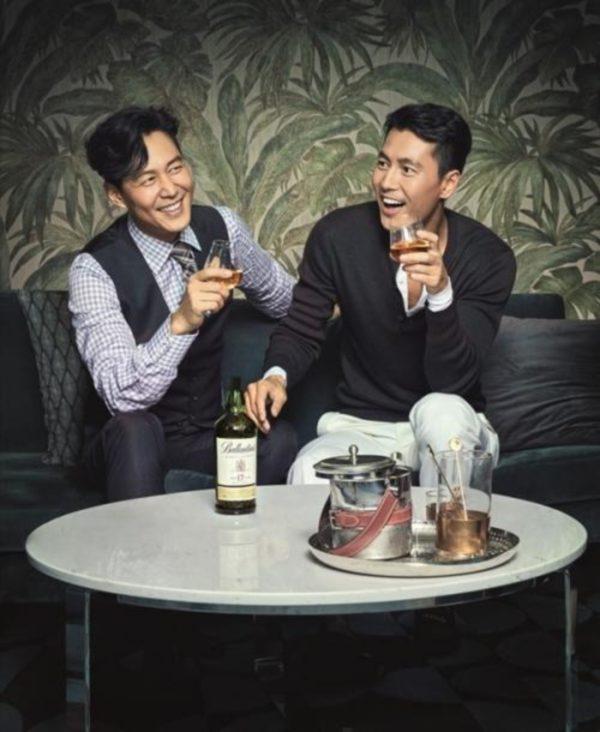 イ・ジョンジェ&チョン・ウソンのバランタイン広告