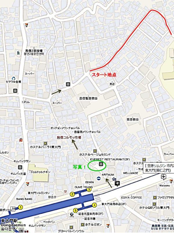昌信洞壁画マウルの地図