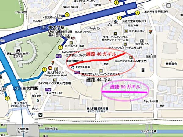 東大門チョッパン村壁画マウルの地図