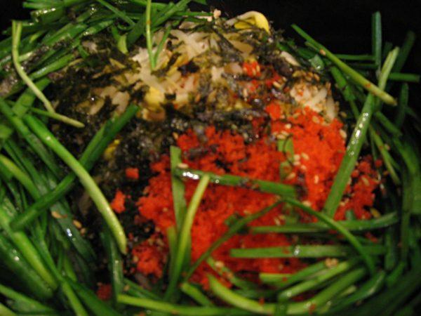 クルイェチャンの牡蠣ピビンパッ
