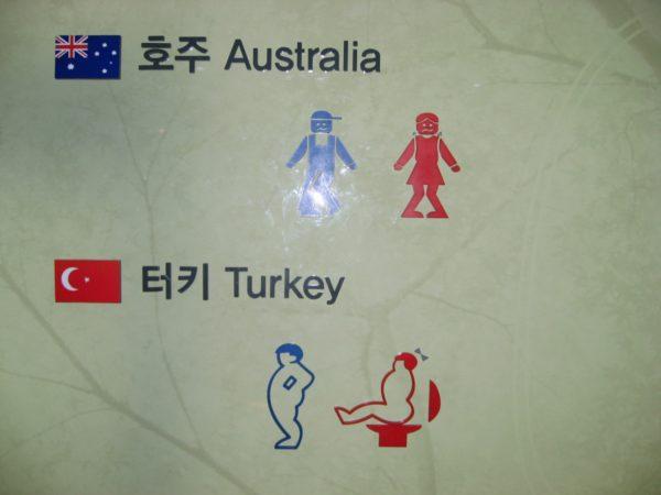 オーストラリア、トルコのトイレマーク