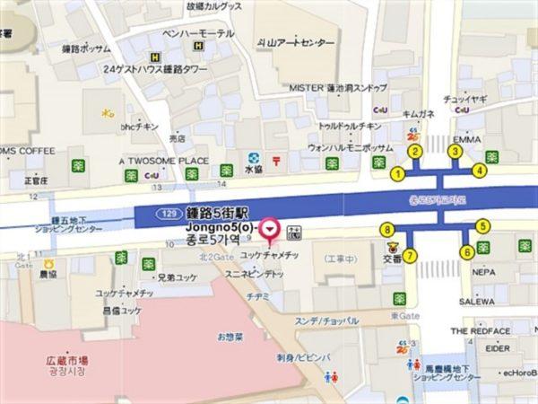 チャメチッ3号店の地図