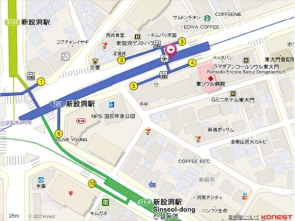 新設洞駅バス停の地図