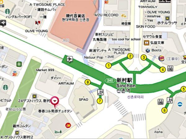 春香コル南原チュオタンの地図