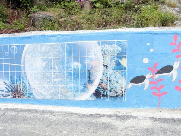 トジャンポ漁村体験村の壁画