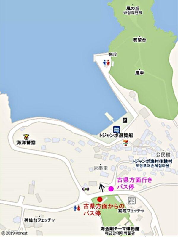 トジャンポ付近の地図