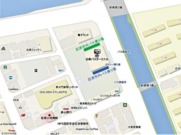 古県バスターミナル地図