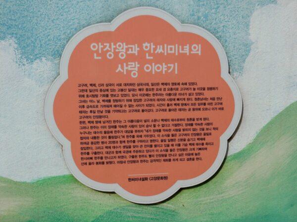 高陽市花田洞壁画マウルの壁画の説明板