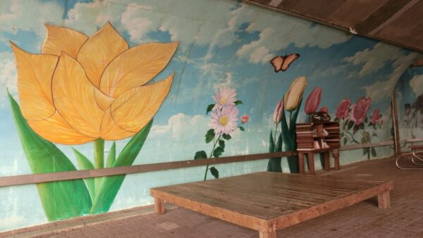 一山湖水公園の壁画