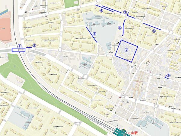高陽市一山西区壁画マウルの地図