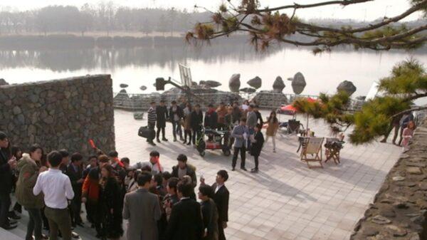 ドラマ「星から来たあなた」の一山湖水公園でのシーン