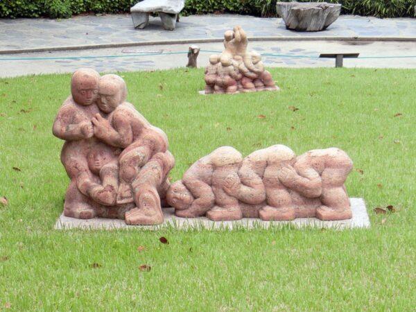 外島ボタニアの彫刻公園のオブジェ