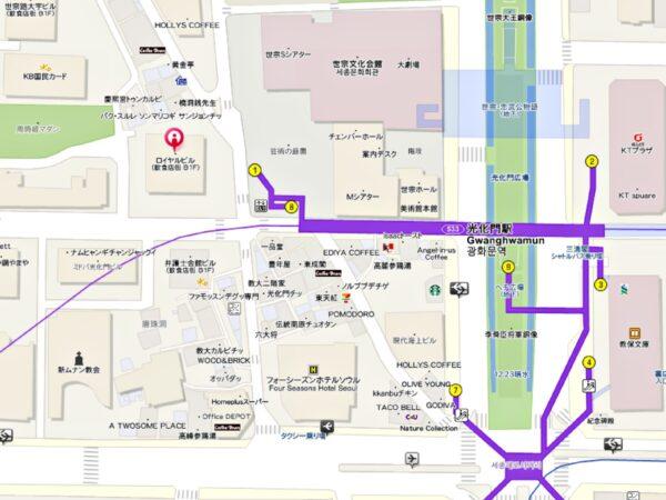 「平家屋」光化門店の地図
