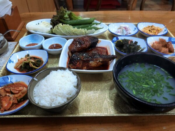 蟾津江シジミスープ専門店のシジミ汁定食
