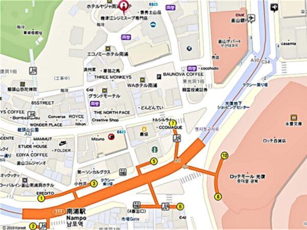 蟾津江シジミスープ専門店の地図