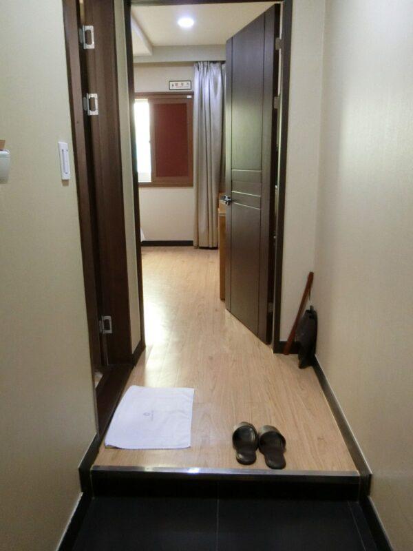 釜山のシンシンホテルの部屋