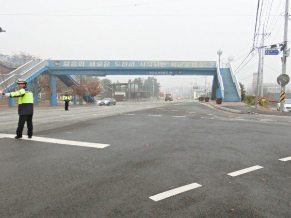 訓練所入所大隊前バス停付近の風景
