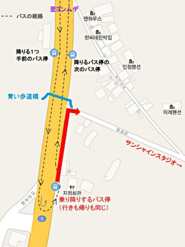 訓練所入所大隊前バス停付近の地図