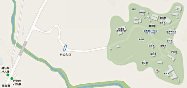安東の君子マウルの地図