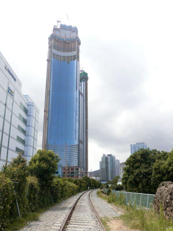 釜山 海雲台近くの廃線