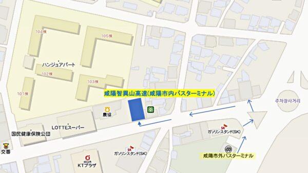 咸陽バスターミナル位置関係図