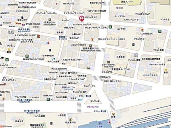 ホンドゥッケの地図