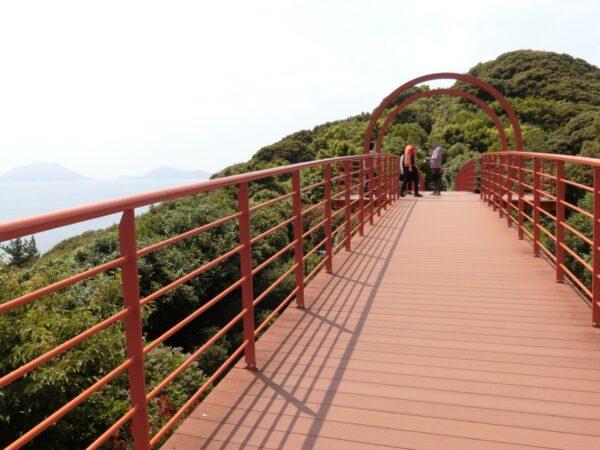 長蛇島海上公園カメリアの虹の橋