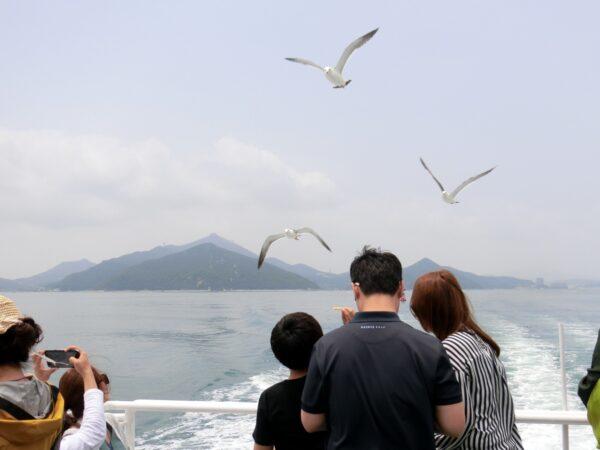 長蛇島行きの船からの景色