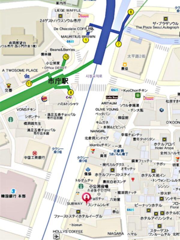 スンナムシレギ市庁店の地図
