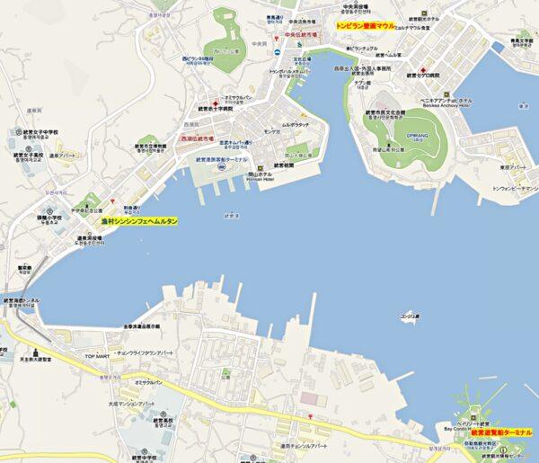統営市内地図