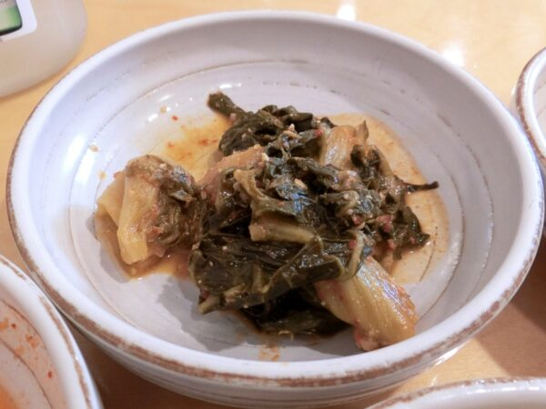 チョングッチャングァポリパッの料理