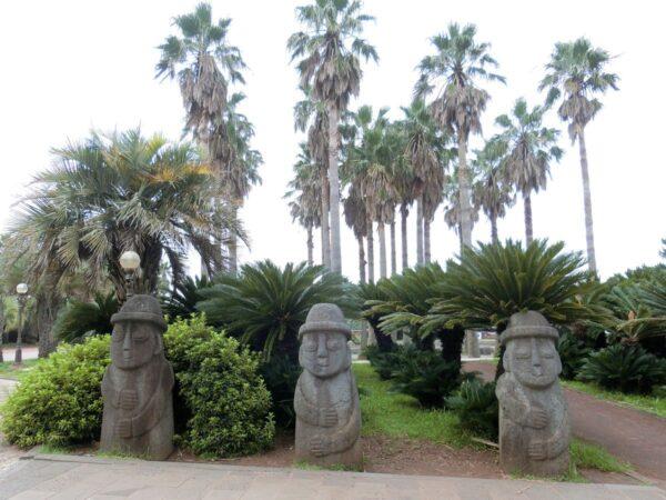 済州島の大浦柱状節理帯