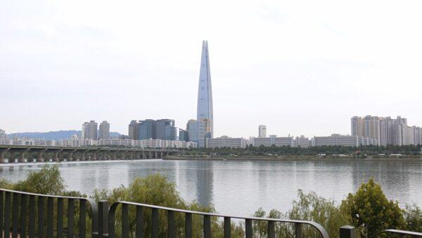 漢江公園トゥッソム地区から見た江南側の景色