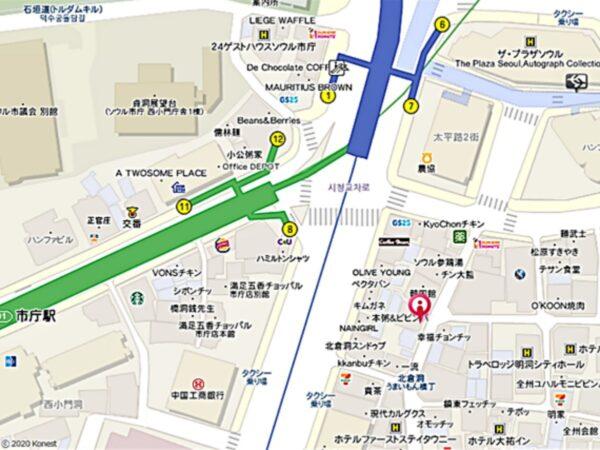 イファス伝統ユッケジャンソウル北倉店の地図