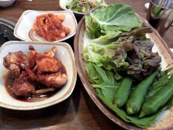 釜山のナンポチッの料理
