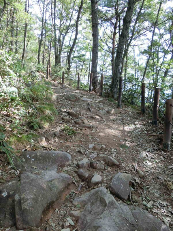 四聖庵から烏山への道