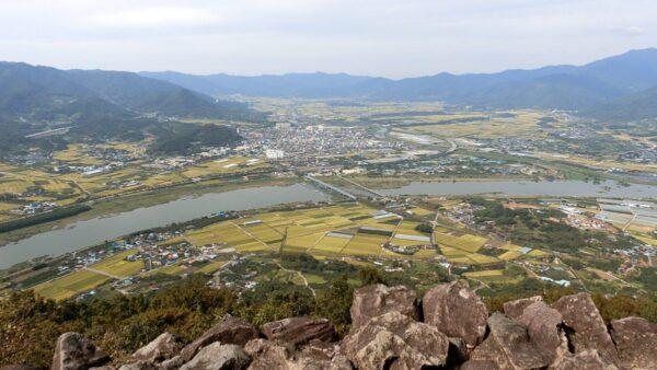 烏山展望台から見た景色