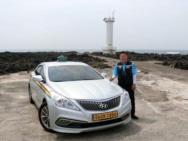 済州島観光タクシー運転手のキム・テインさん