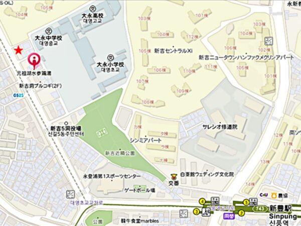 元祖湖水参鶏湯の地図