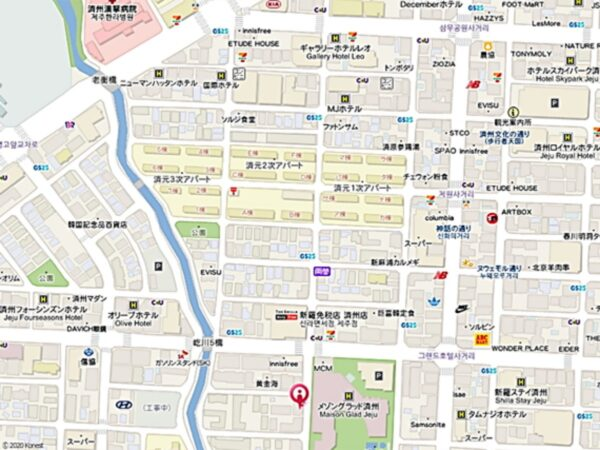 済州島のイェッチッ2の地図