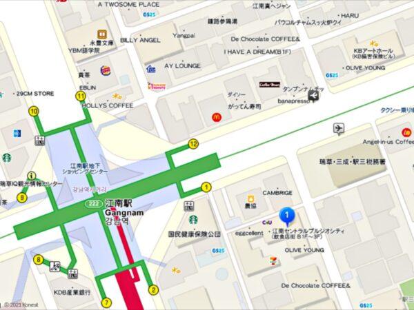 トルケマウルメットルスンドゥブ江南店の地図