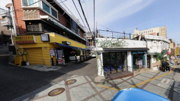 「梨泰院クラス」のお店「タンバム」の場所のストリートビュー