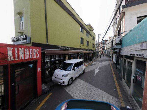 「梨泰院クラス」のお店「タンバム」付近のストリートビュー