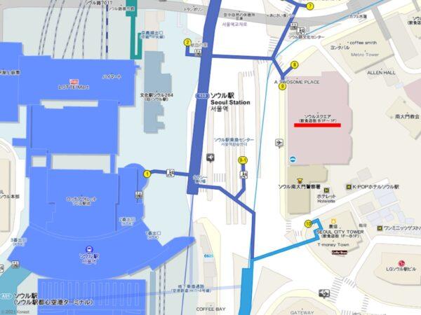 新村ソルロンタン ソウルスクエア店の地図